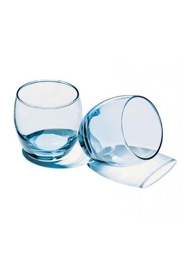 Paşabahçe 41010 6 Lı Barrel Bardak Su Bardağı - Meşrubat Bardağı Mavi Mavi